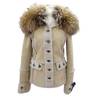 Dolce & Gabbana Leren jas met bont