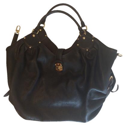 Louis Vuitton Mahina black leather bag