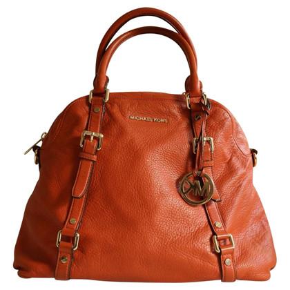 Michael Kors Leather shoulder bag in Orange