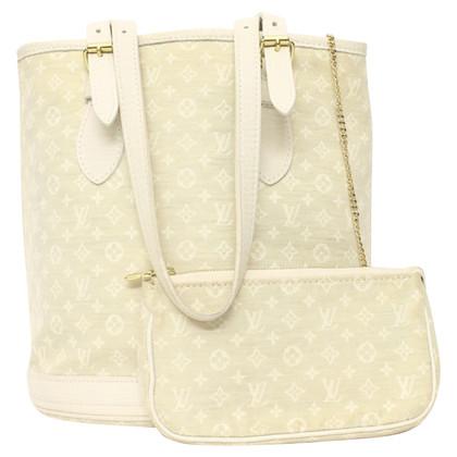 "Louis Vuitton ""Petit Bucket Monogram Mini Lin Cream"""