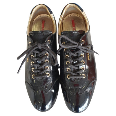 2428a13246d6 Prada Trainers Patent leather in Black