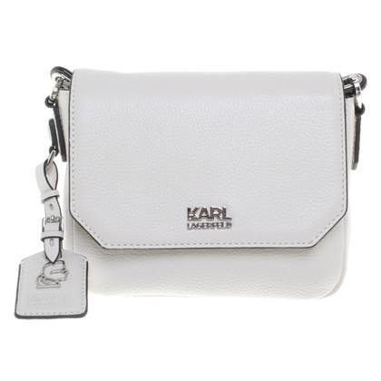 Karl Lagerfeld Crossbody Bag en blanc crème