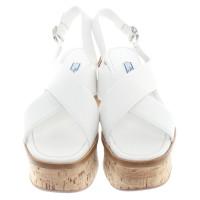 Prada Platform sandals in white
