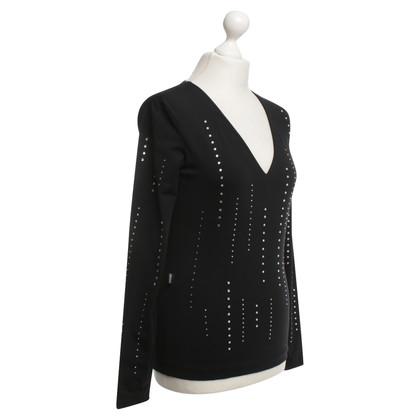 Moschino Shirt mit Strass-Details