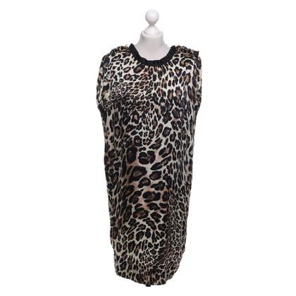Semi Couture Abito in seta con motivo leopardo