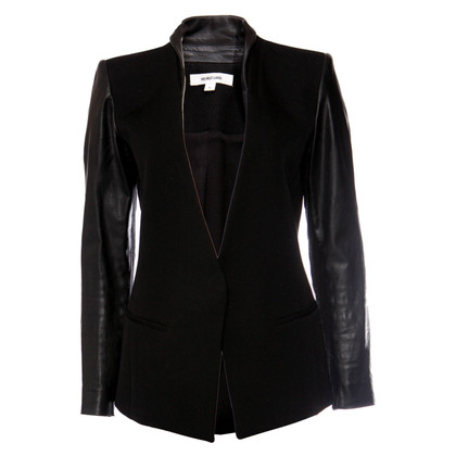 Helmut Lang Blazer with leather sleeves