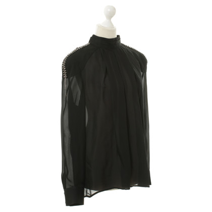 Pierre Balmain Silk top in black