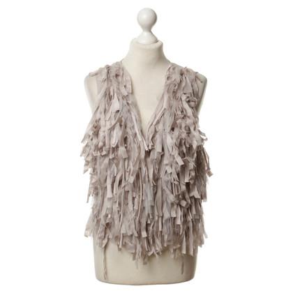 Marc Cain Silk vest with fringes