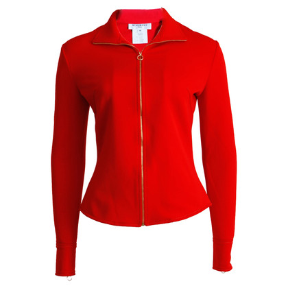 Givenchy red fitted stretch jacket