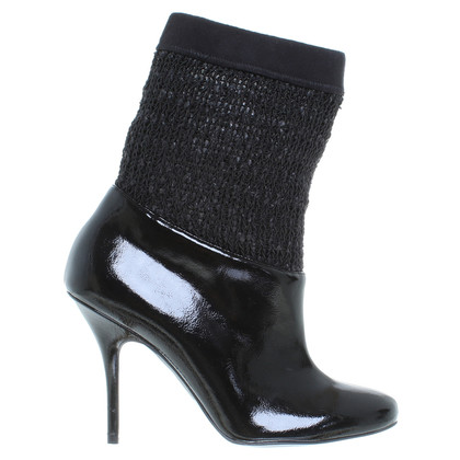 Stella McCartney Patent leather ankle boots in black