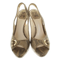 Christian Dior Leather Slingback peeptoes