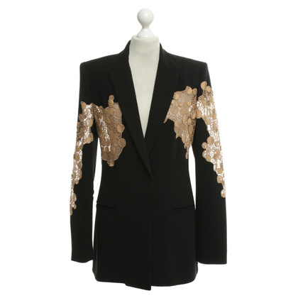 Versace Black blazer with lace