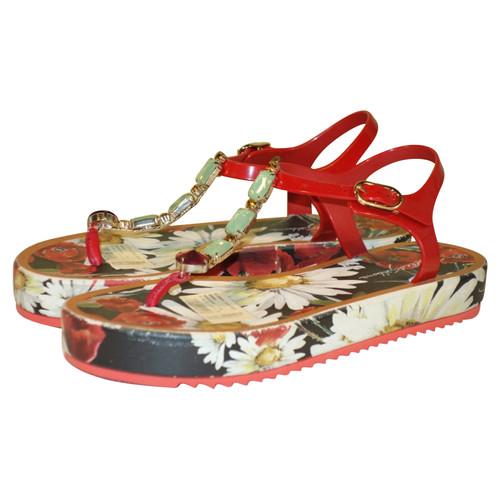663753d6d Dolce   Gabbana Platform sandals with gemstones - Second Hand Dolce ...