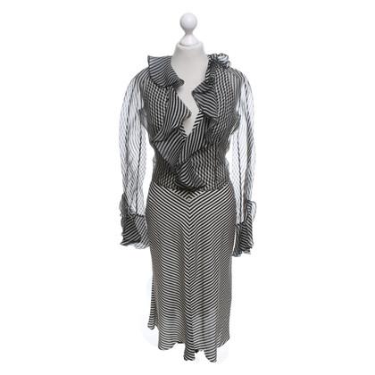 Valentino Robe avec une veste en soie