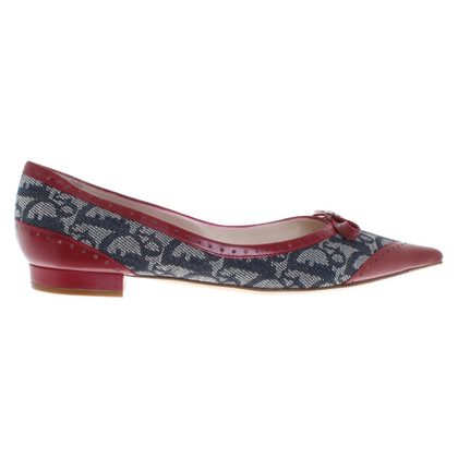 Christian Dior Ballerinas in red / blue