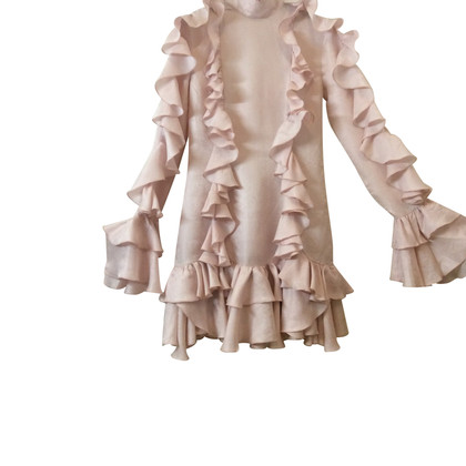 Philosophy di Lorenzo Serafini Silk dress with volants