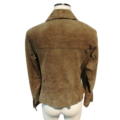 Iris von Arnim Nubuck giacca di pelle biker in beige