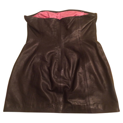 Dsquared2 Mini robe en cuir