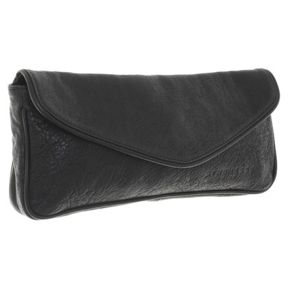 Strenesse Blue Lederclutch in nero