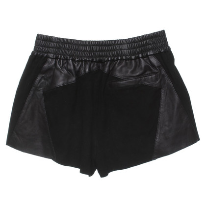 Faith Connexion Shorts in pelle in Black