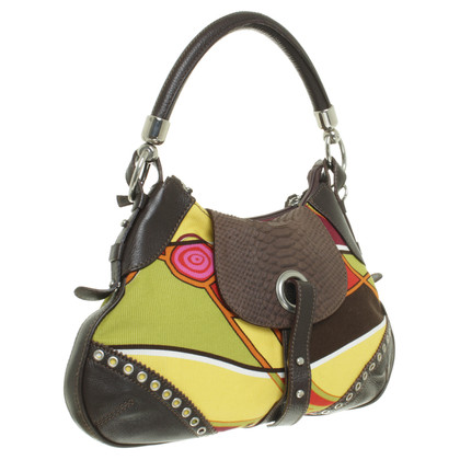 Coccinelle Colorful bag with leather details