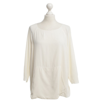 Longchamp Silk blouse in cream white