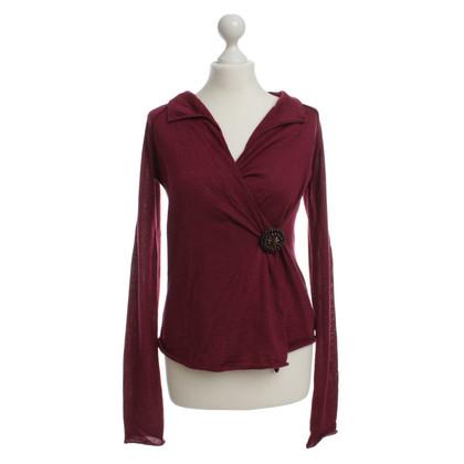 Miu Miu Wrap blouse with brooch