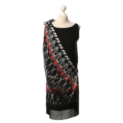 Thomas Wylde Dress in black with skeleton print motif
