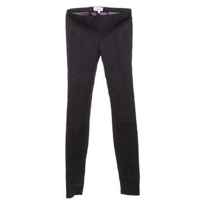 Helmut Lang Pantaloni di pelle viola