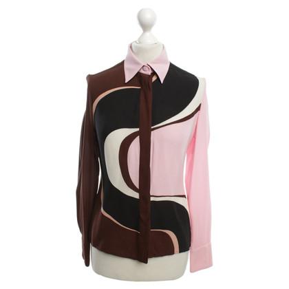 Versace Zijden blouse met patroon
