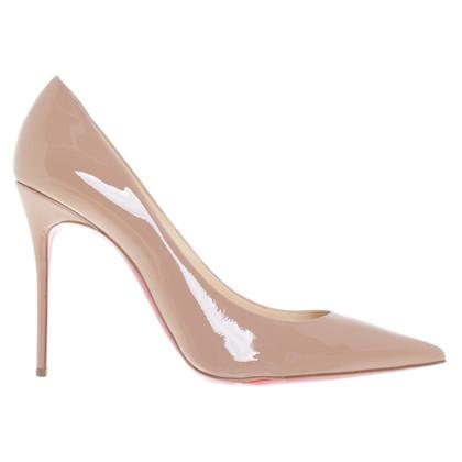 Christian Louboutin nude coloured High Heels