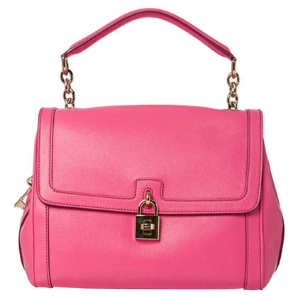 Dolce & Gabbana Pink Lock and Key Satchel