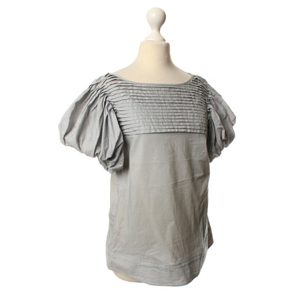 Vertigo Grey blouse with puffed sleeves