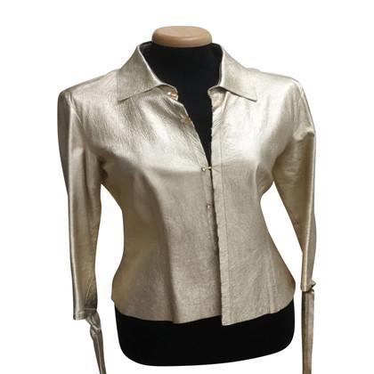 Roberto Cavalli leather blouse