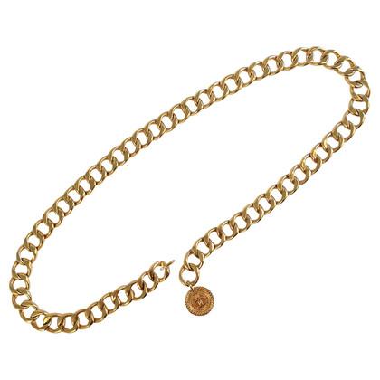 Chanel Goldfarbener Kettengürtel