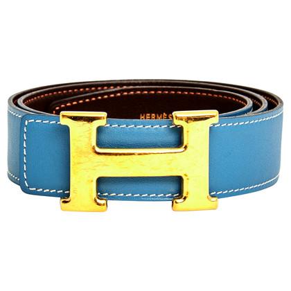 Hermès cintura reversibile con fibbia H