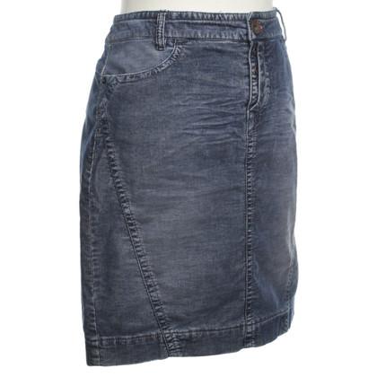 Marc Cain Blue corduroy skirt