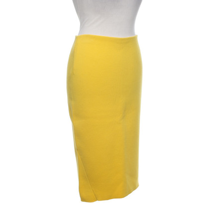 Malo Knitted skirt in yellow
