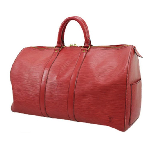 e6f81f3201073 Louis Vuitton Keepall 45 aus Canvas in Rot - Second Hand Louis ...