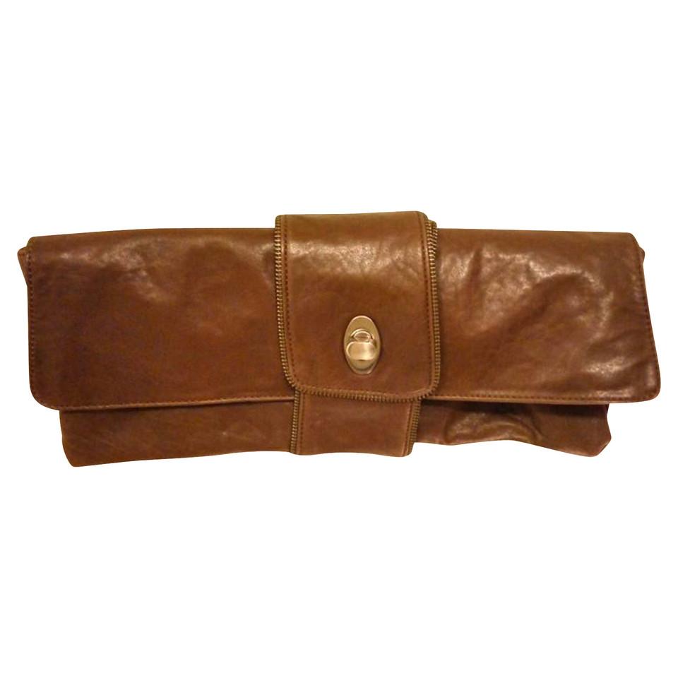 Max Azria clutch in brown