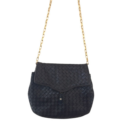 Bottega Veneta Intrecciato nappa leather flapbag