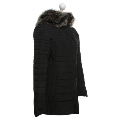 Armani Jeans Quilted coat in black