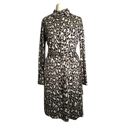 Diane von Furstenberg Silk dress in grey/black