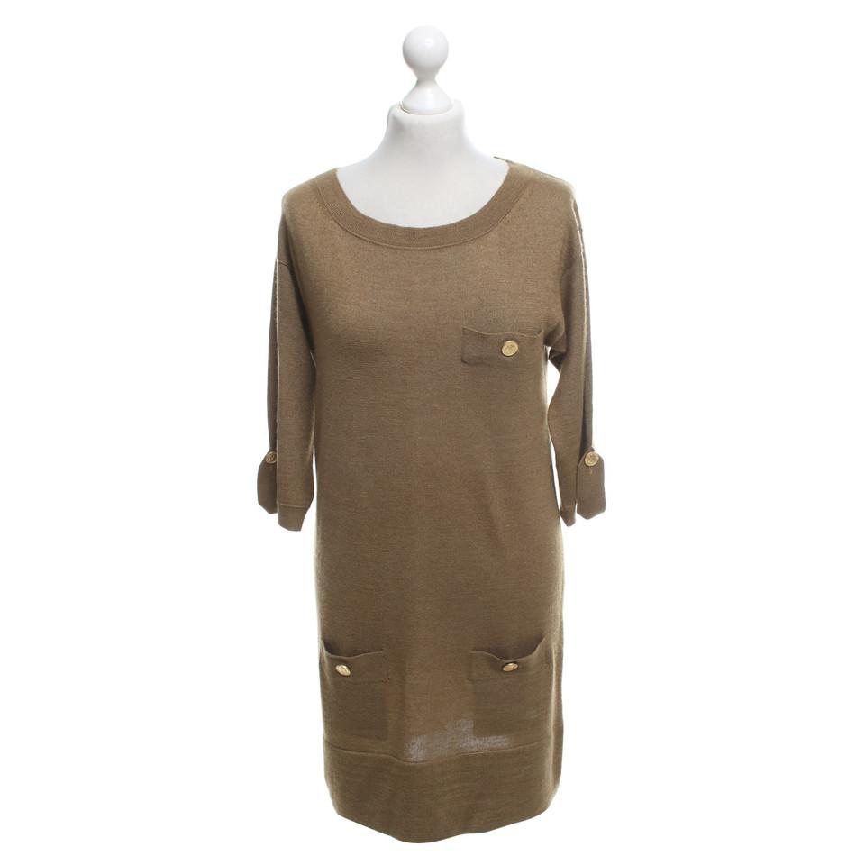 Chloé Kaki-gekleurde gebreide jurk