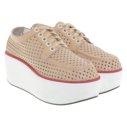 Jil Sander Platform lace-up shoes in tricolor