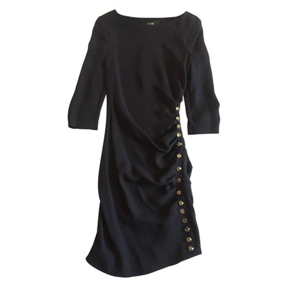 Azzaro blauw zijden jurk