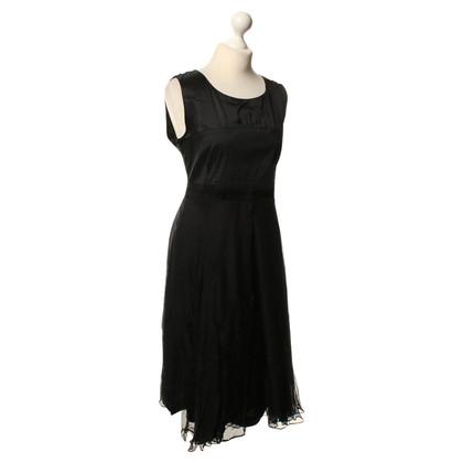 René Lezard Schede jurk in zwart