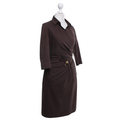 René Lezard Blouse dress in dark brown