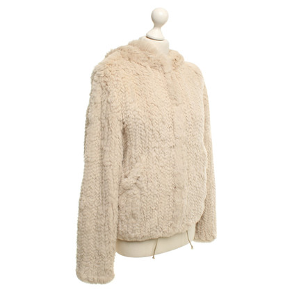 Bash Fur jacket in beige