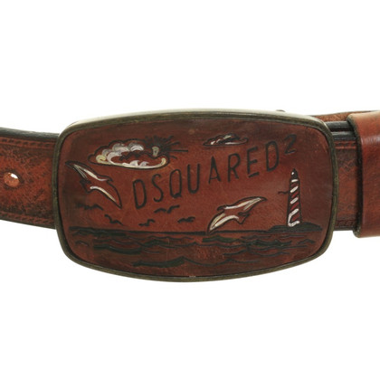 Dsquared2 Brown leather belt